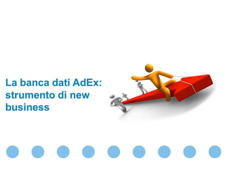La banca dati AdEx: strumento di new business