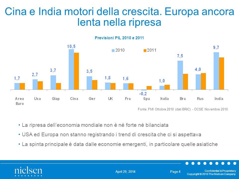 Cina e India motori della crescita. Europa ancora lenta nella ripresa