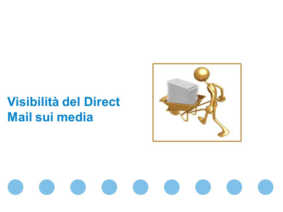 Visibilità del Direct Mail sui media