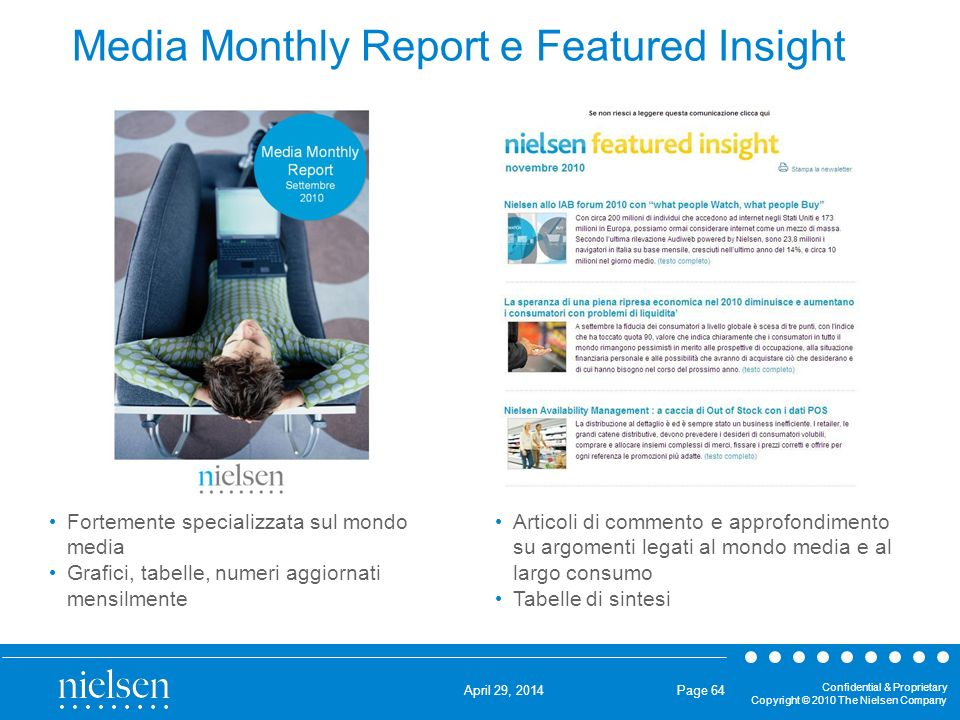 Media Monthly Report e Featured Insight