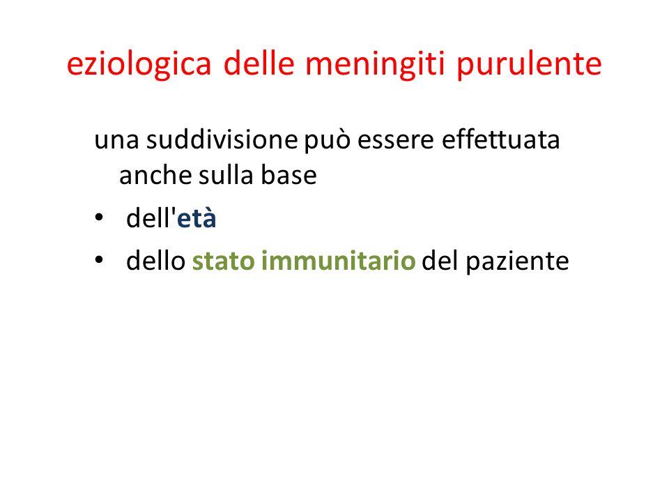 eziologica delle meningiti purulente