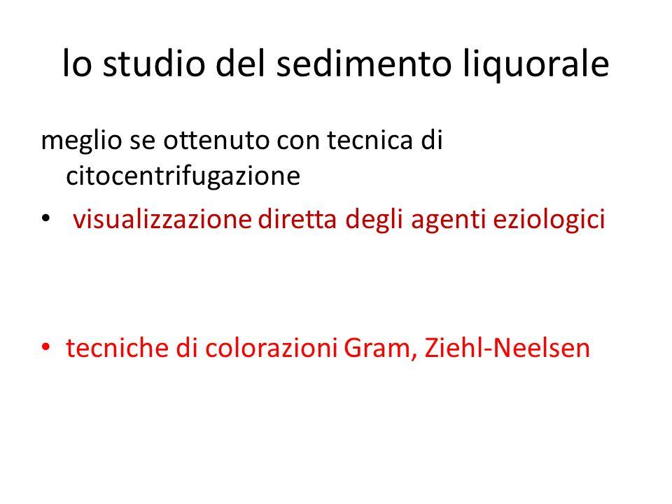 lo studio del sedimento liquorale