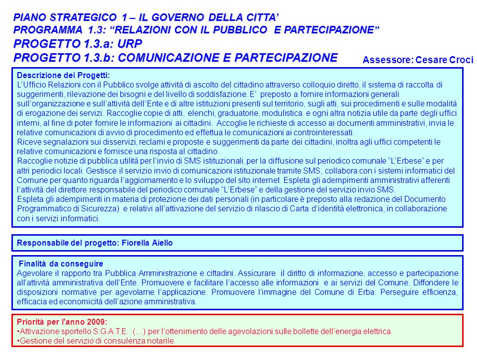 PROGETTO 1.3.b: COMUNICAZIONE E PARTECIPAZIONE