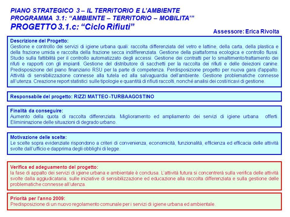 PROGETTO 3.1.c: Ciclo Rifiuti