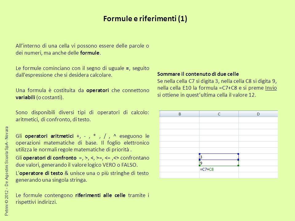 Formule e riferimenti (1)