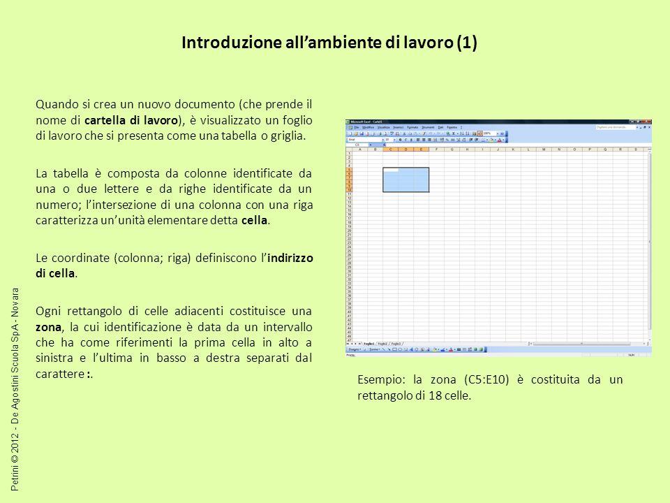 Introduzione all'ambiente di lavoro (1)