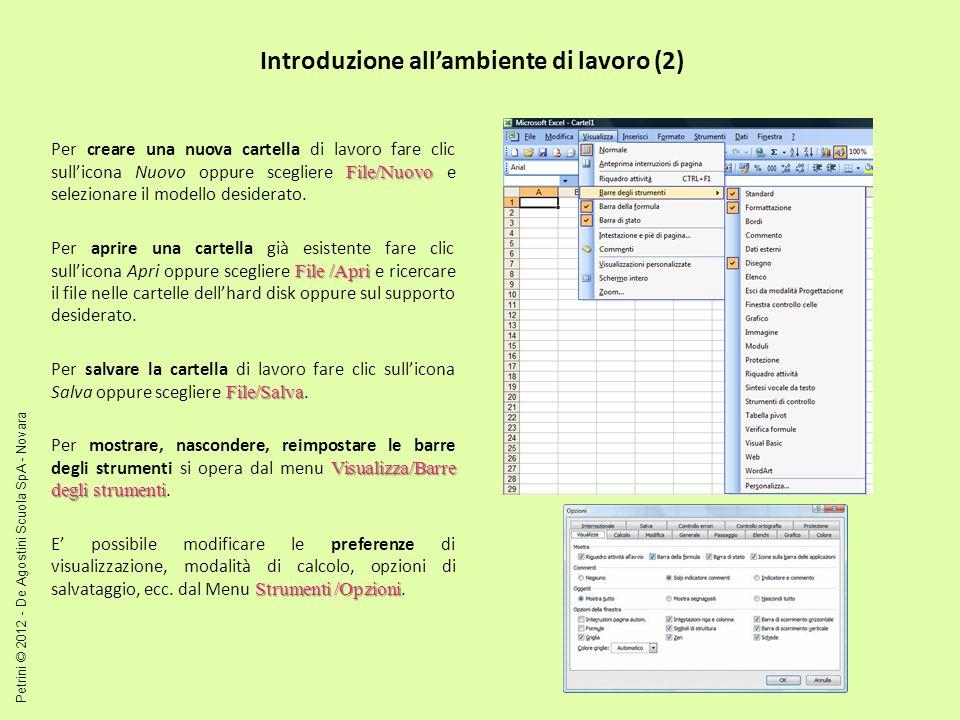 Introduzione all'ambiente di lavoro (2)