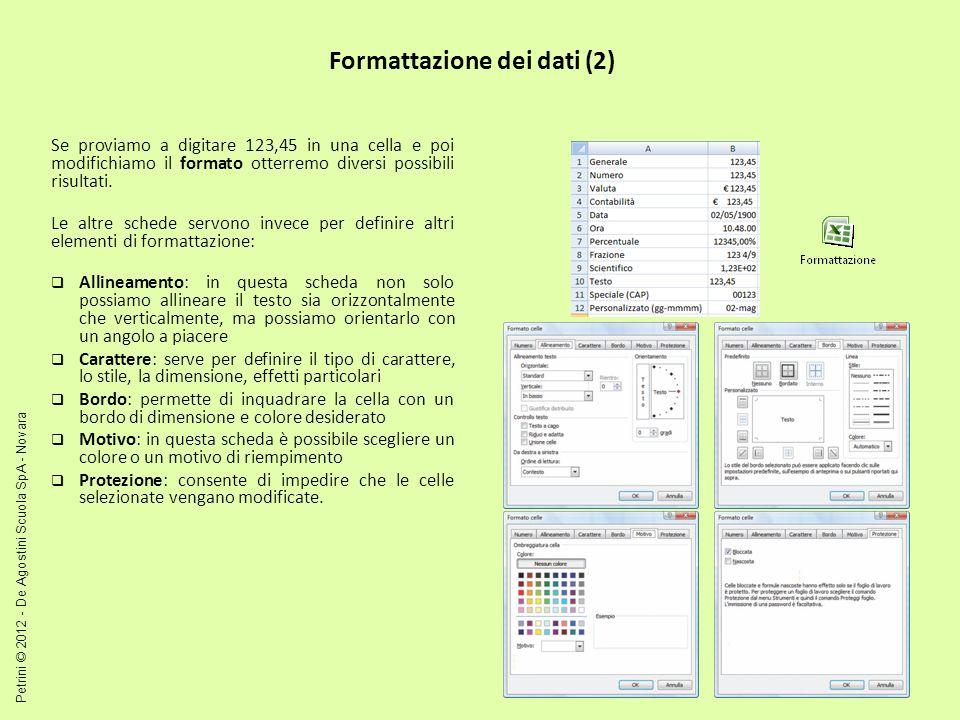 Formattazione dei dati (2)