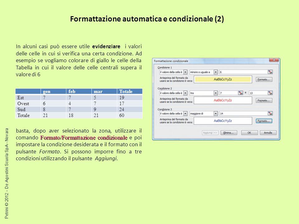 Formattazione automatica e condizionale (2)