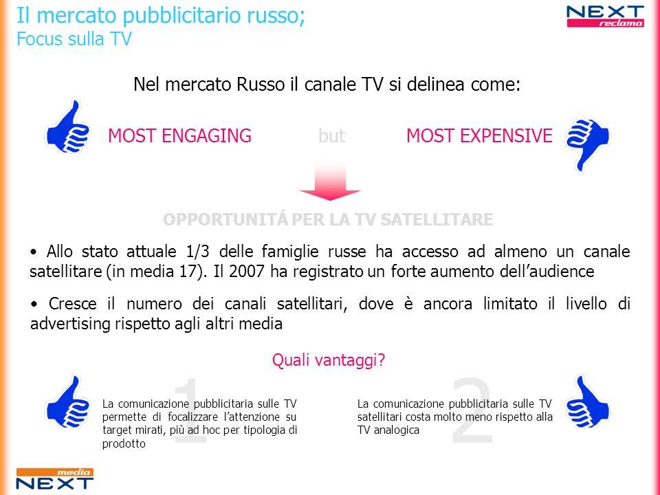 OPPORTUNITÁ PER LA TV SATELLITARE
