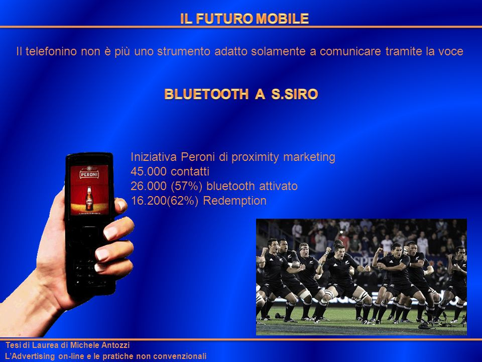 IL FUTURO MOBILE BLUETOOTH A S.SIRO