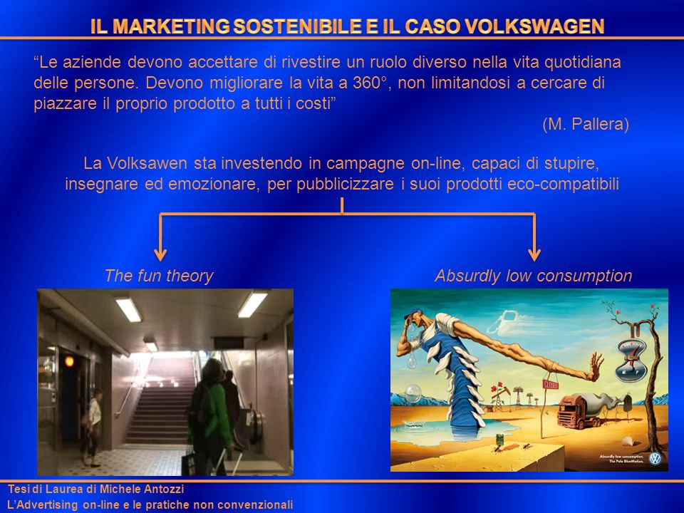IL MARKETING SOSTENIBILE E IL CASO VOLKSWAGEN