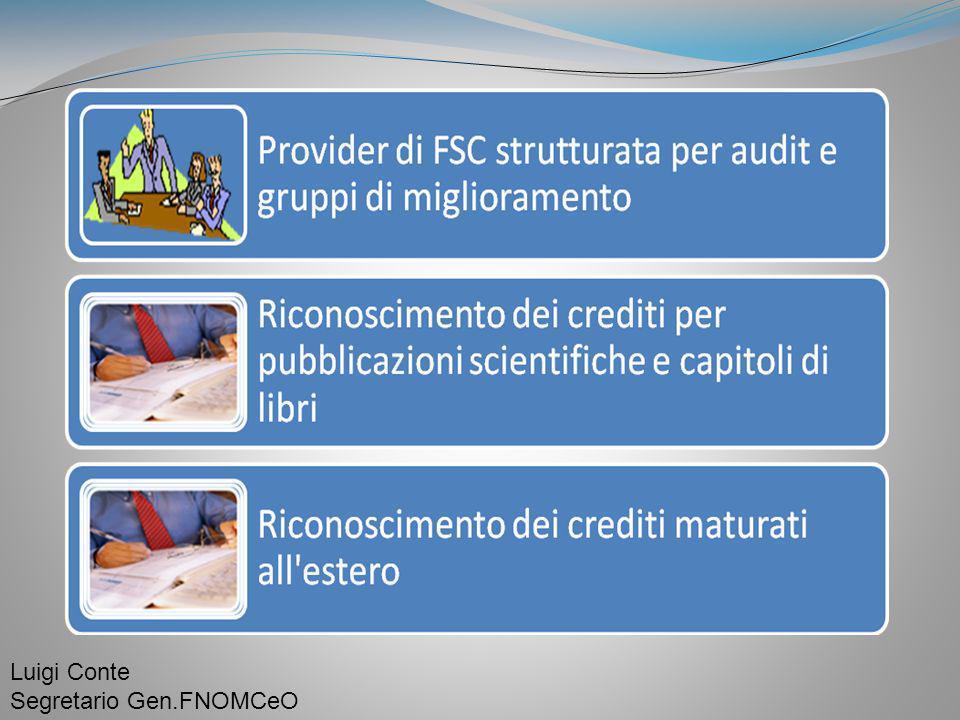 Luigi Conte Segretario Gen.FNOMCeO