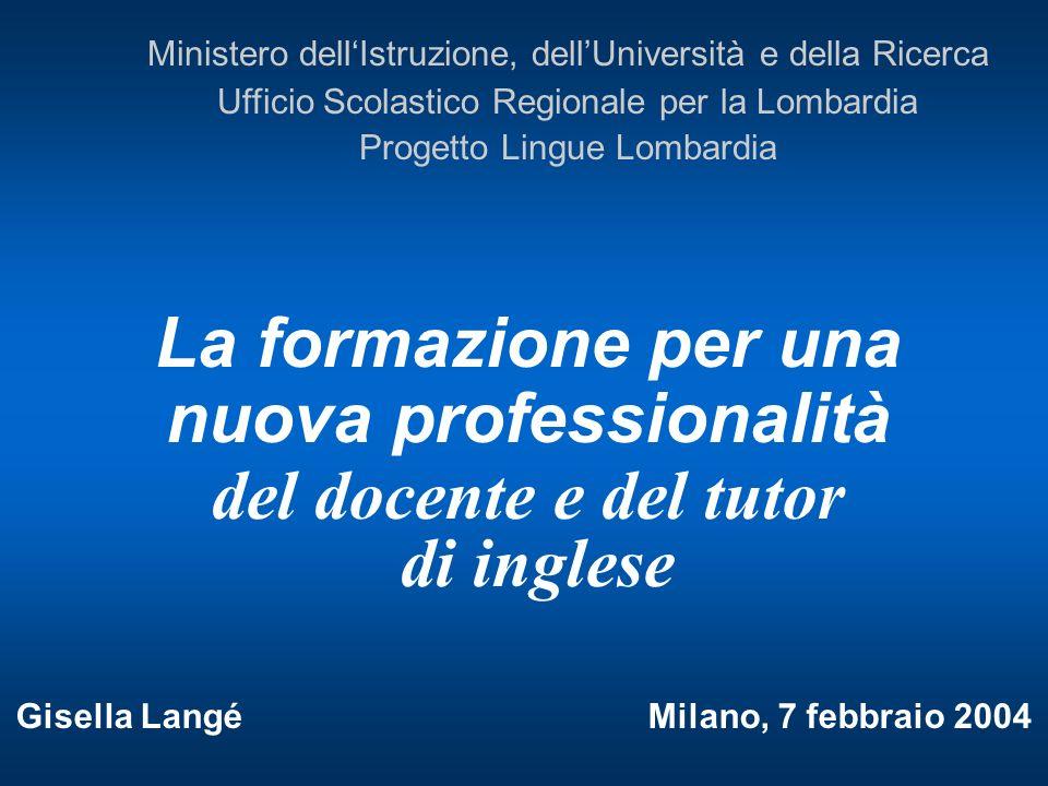 La formazione per una nuova professionalità