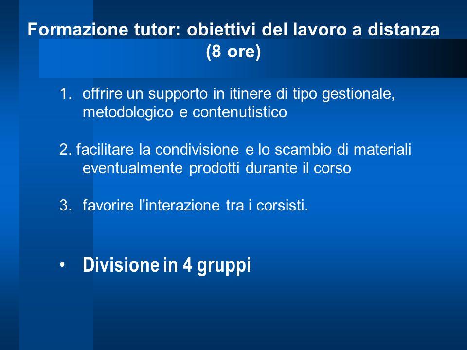 Formazione tutor: obiettivi del lavoro a distanza