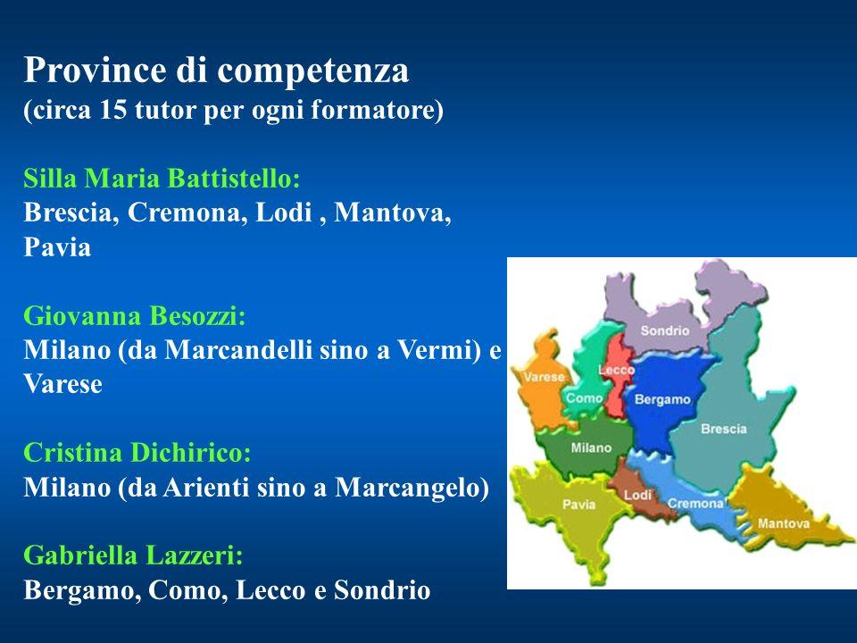 Province di competenza