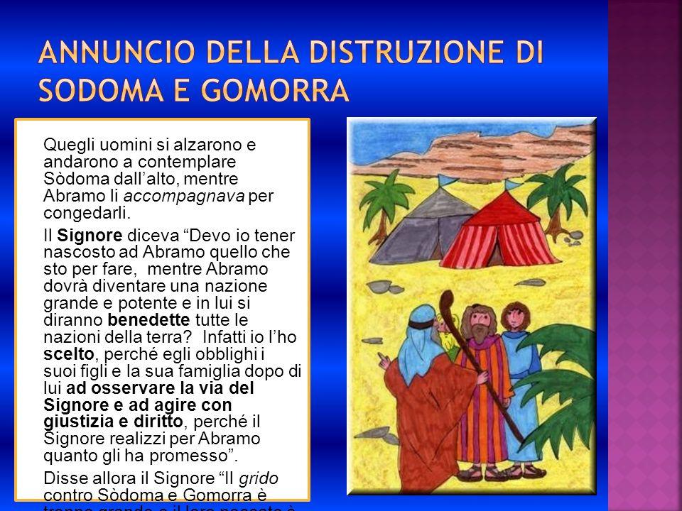 Annuncio della distruzione di Sodoma e Gomorra