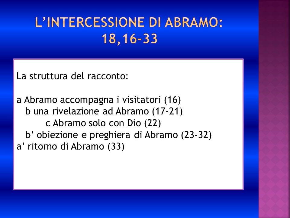 L'intercessione di Abramo: 18,16-33