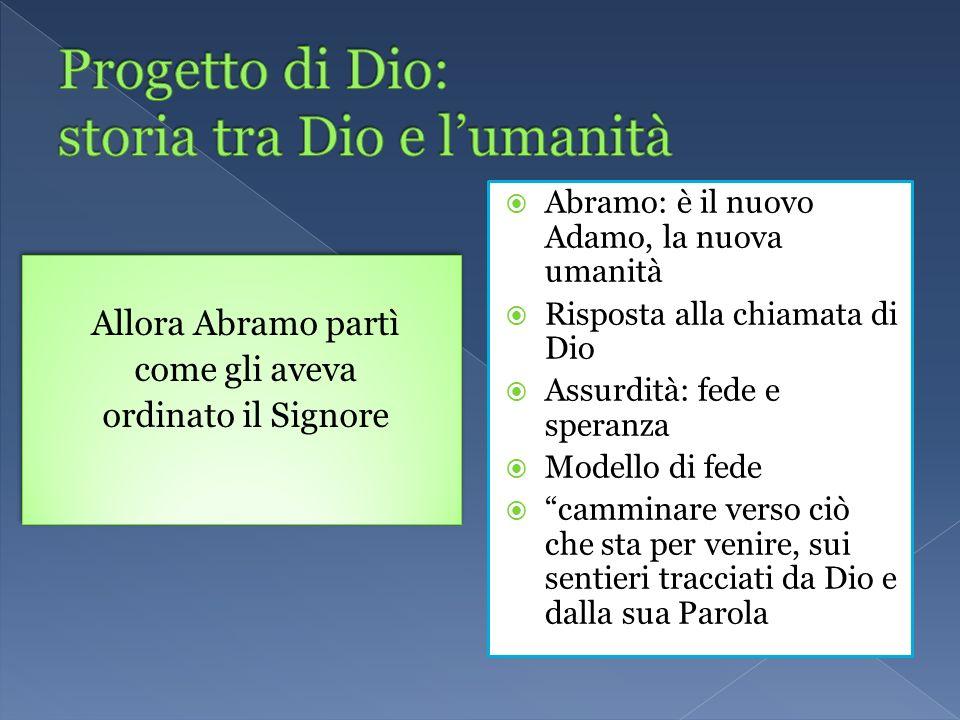 Progetto di Dio: storia tra Dio e l'umanità