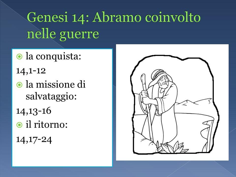 Genesi 14: Abramo coinvolto nelle guerre