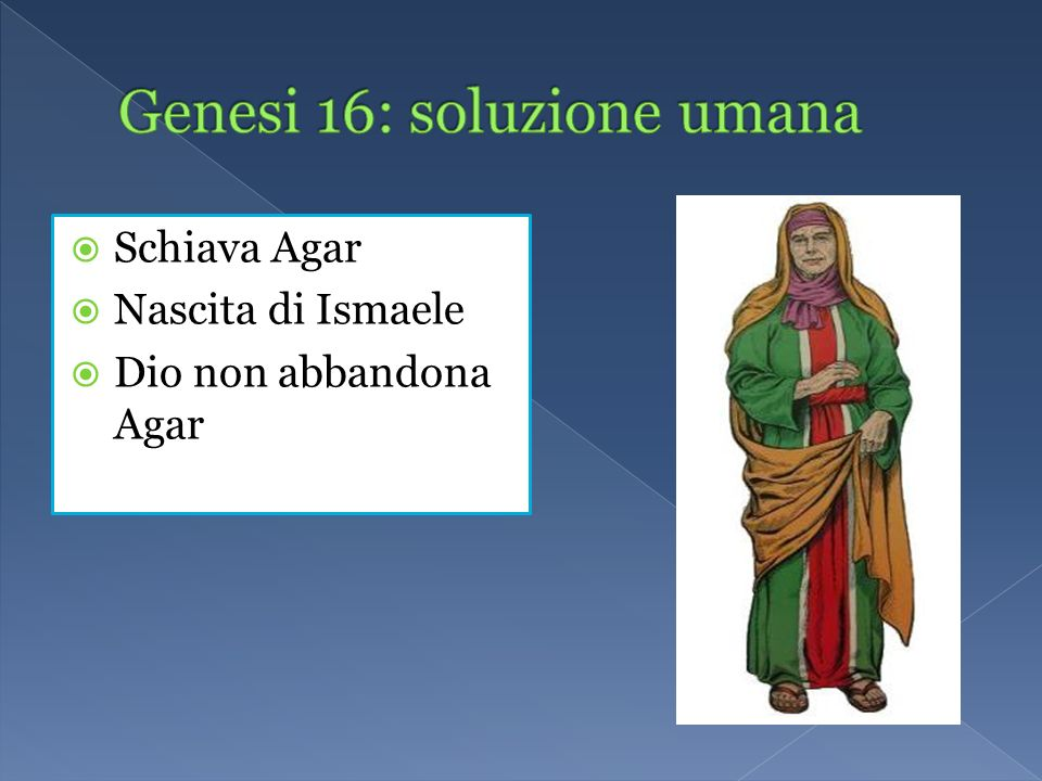 Genesi 16: soluzione umana