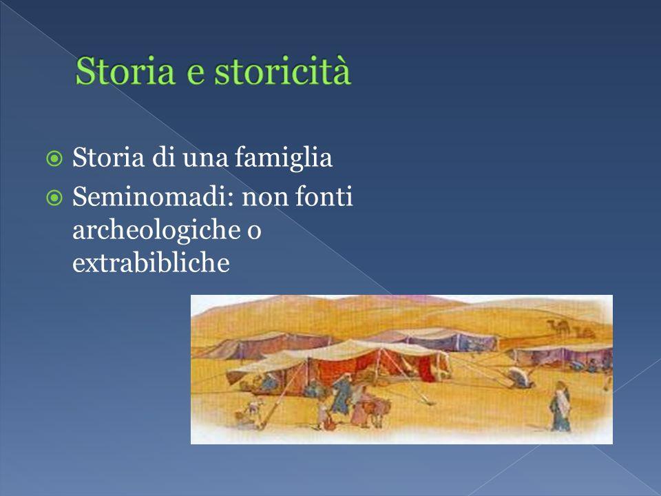 Storia e storicità Storia di una famiglia