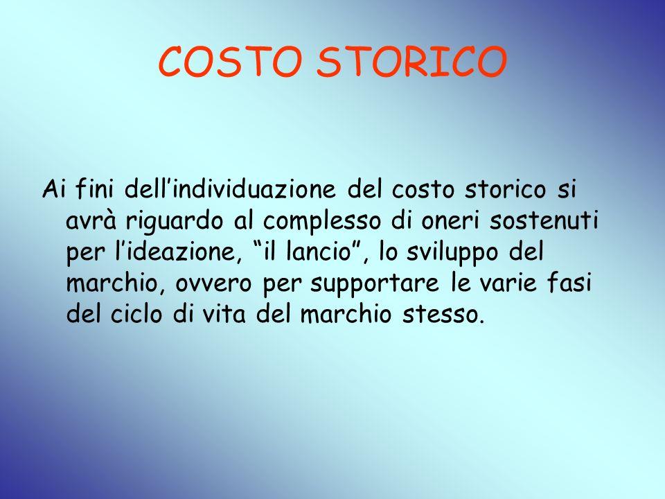 COSTO STORICO