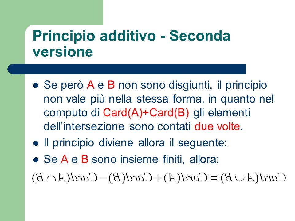 Principio additivo - Seconda versione