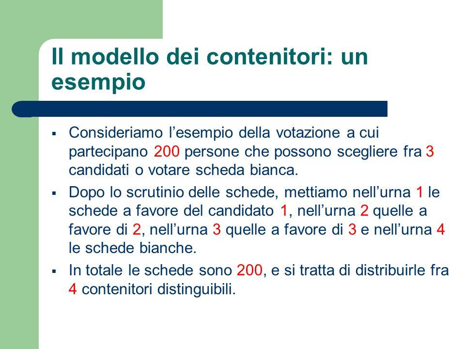Il modello dei contenitori: un esempio