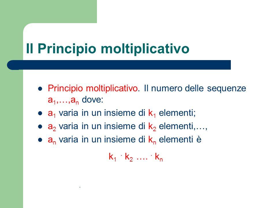 Il Principio moltiplicativo