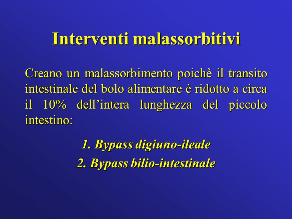 Interventi malassorbitivi