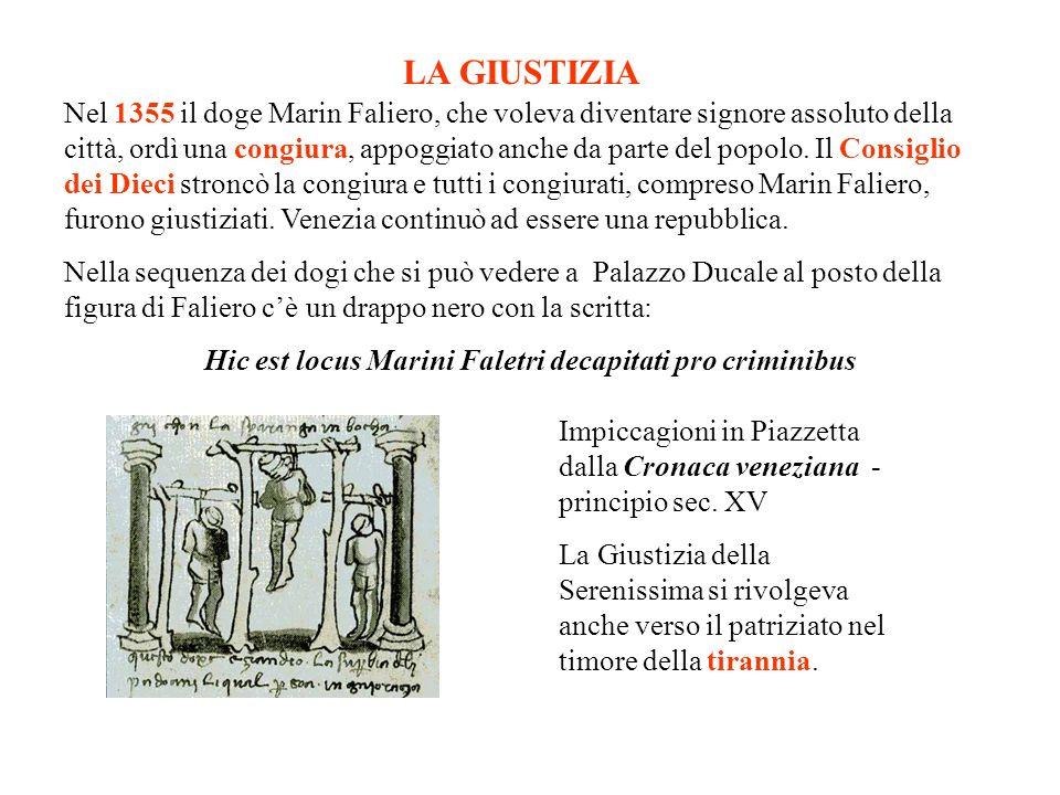 Hic est locus Marini Faletri decapitati pro criminibus