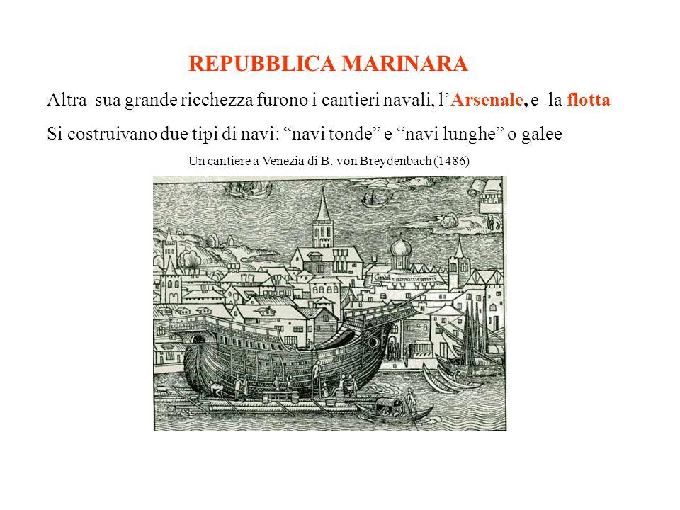 Un cantiere a Venezia di B. von Breydenbach (1486)