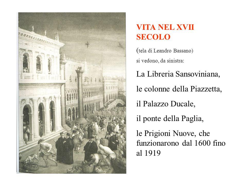 La Libreria Sansoviniana, le colonne della Piazzetta,