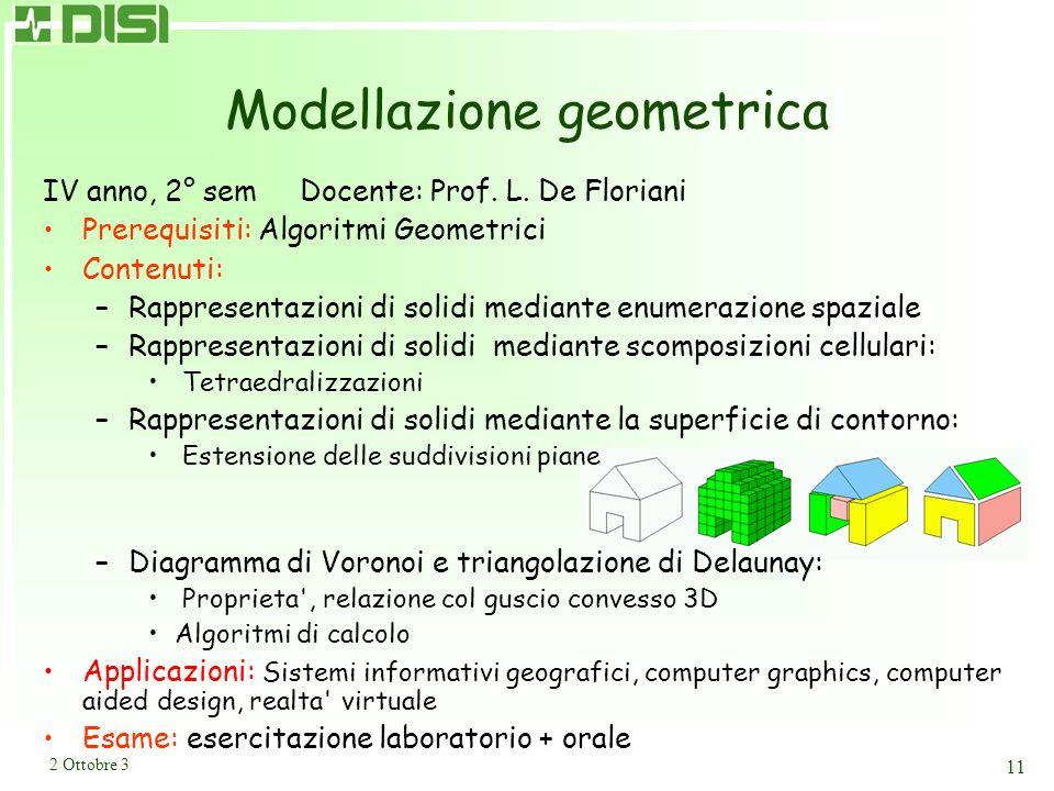 Reti neurali IV anno, 1° sem Docente: Prof. F. Masulli (inizia il 16/10)