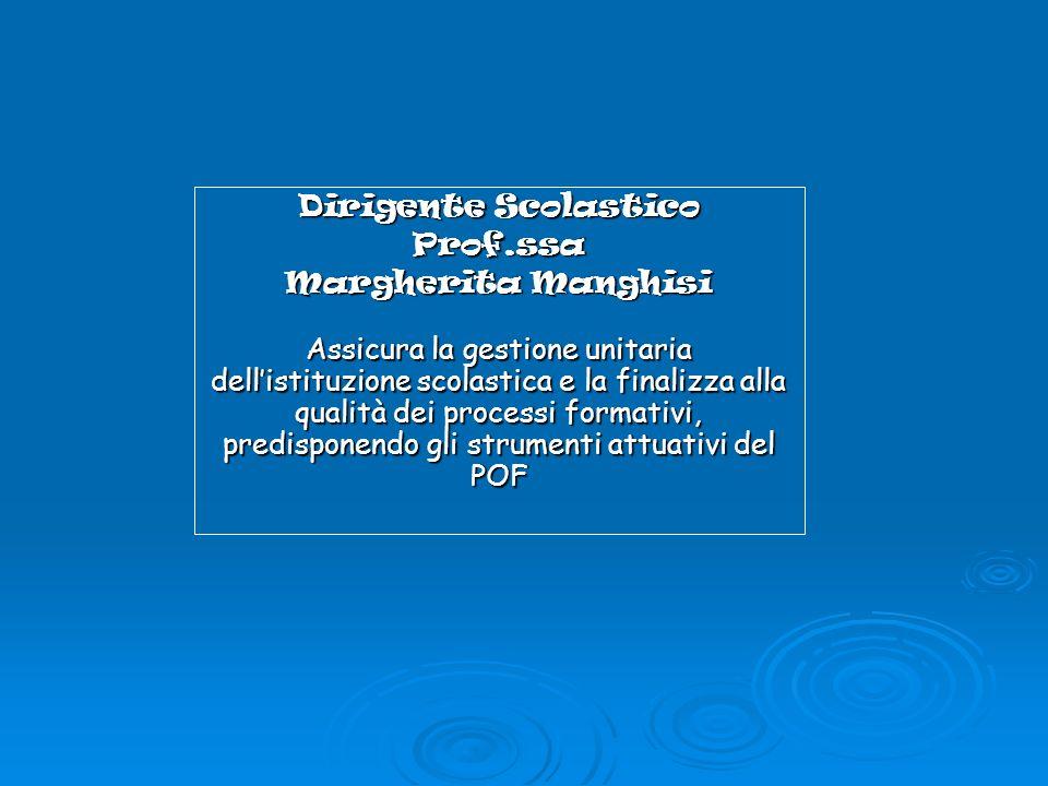 Dirigente Scolastico Prof.ssa. Margherita Manghisi.