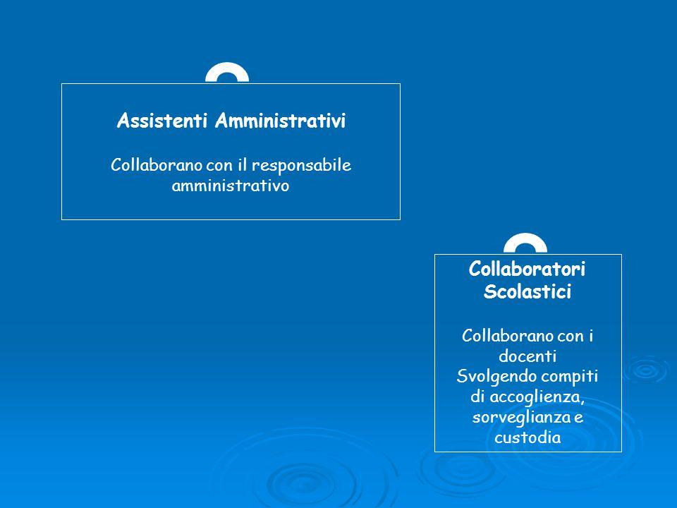 Assistenti Amministrativi Collaboratori Scolastici