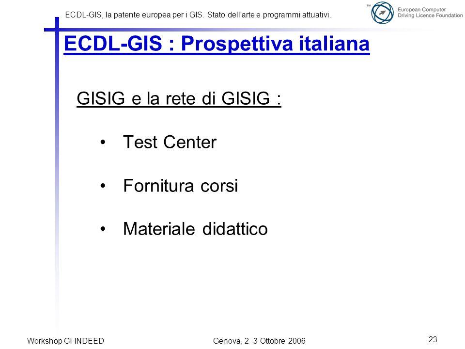 ECDL-GIS : Prospettiva italiana