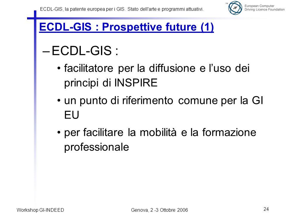 ECDL-GIS : Prospettive future (1)