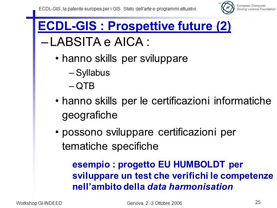 ECDL-GIS : Prospettive future (2)