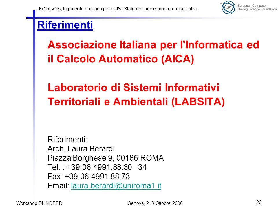 Laboratorio di Sistemi Informativi Territoriali e Ambientali (LABSITA)