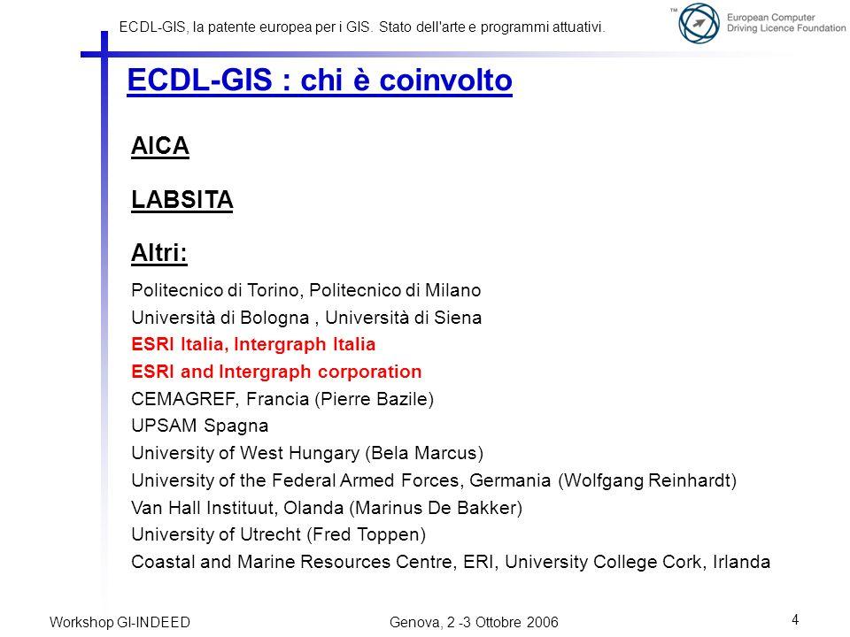 ECDL-GIS : chi è coinvolto
