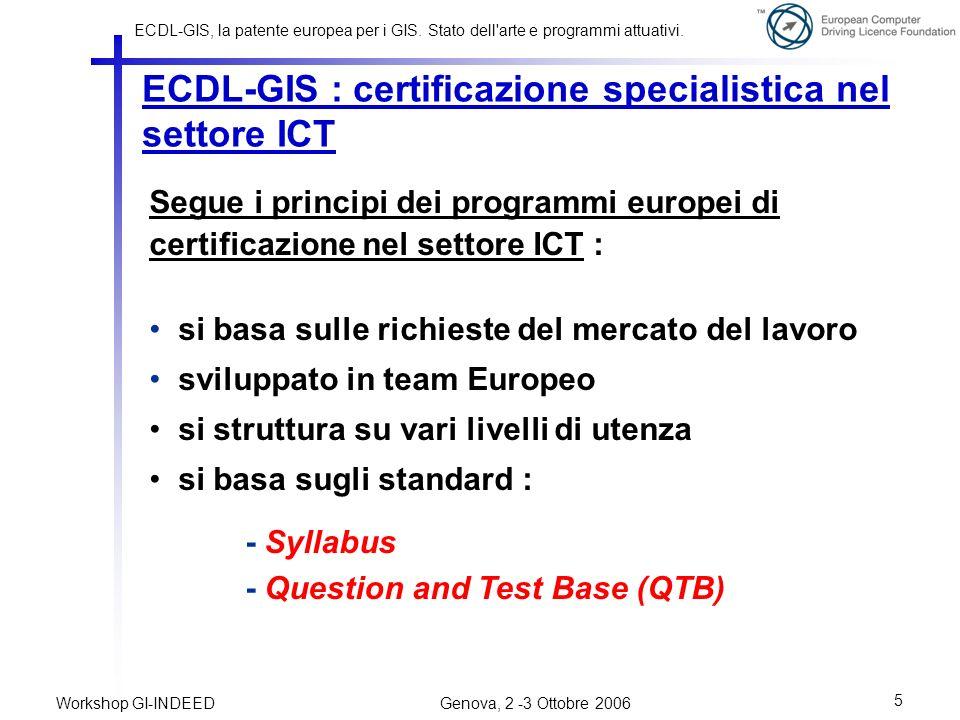 ECDL-GIS : certificazione specialistica nel settore ICT