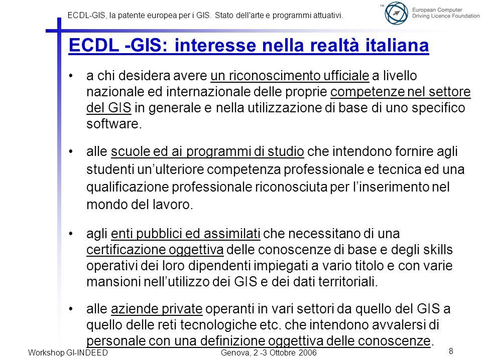 ECDL -GIS: interesse nella realtà italiana