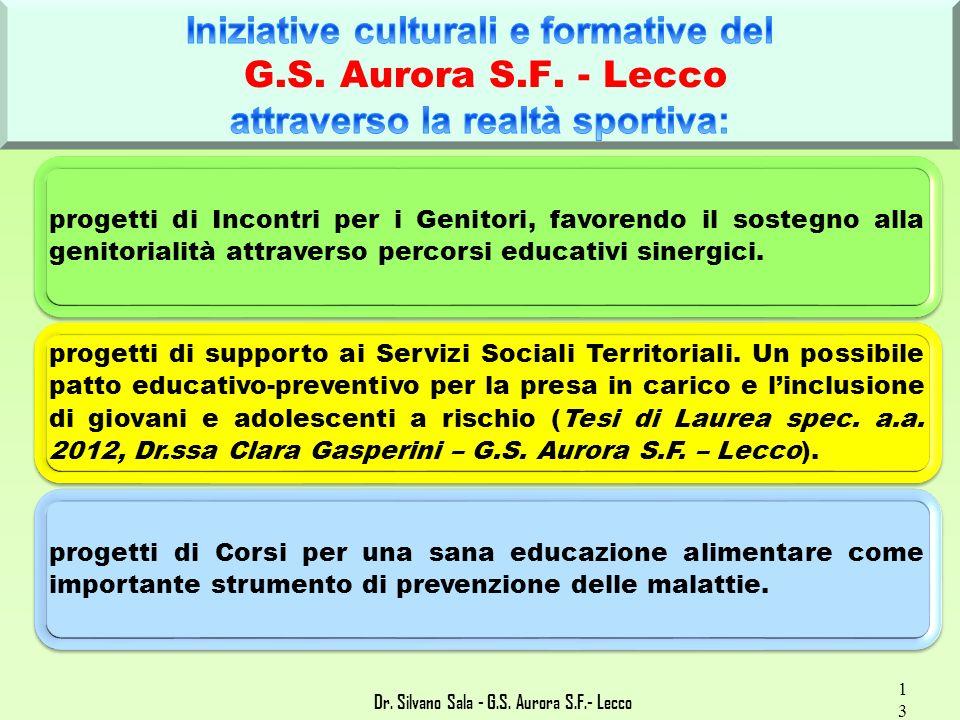 Dr. Silvano Sala - G.S. Aurora S.F.- Lecco