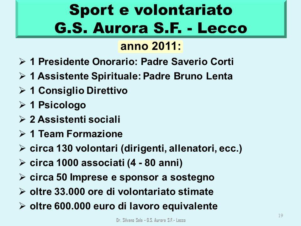 Sport e volontariato G.S. Aurora S.F. - Lecco