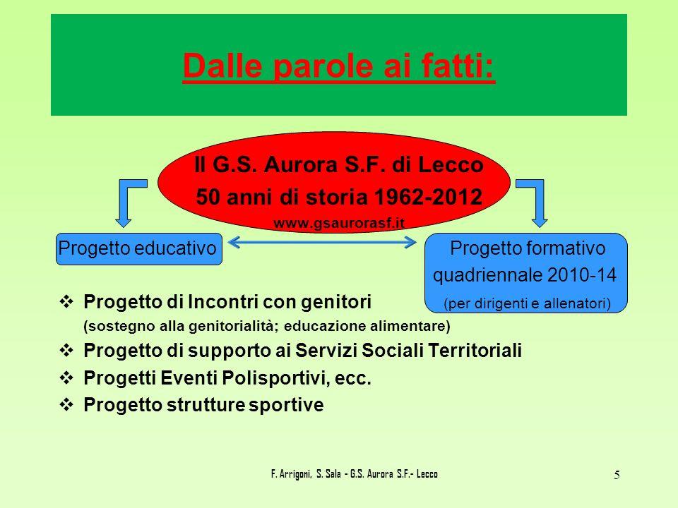 F. Arrigoni, S. Sala - G.S. Aurora S.F.- Lecco