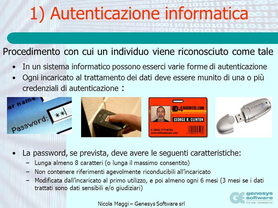 1) Autenticazione informatica