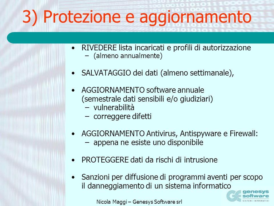 3) Protezione e aggiornamento