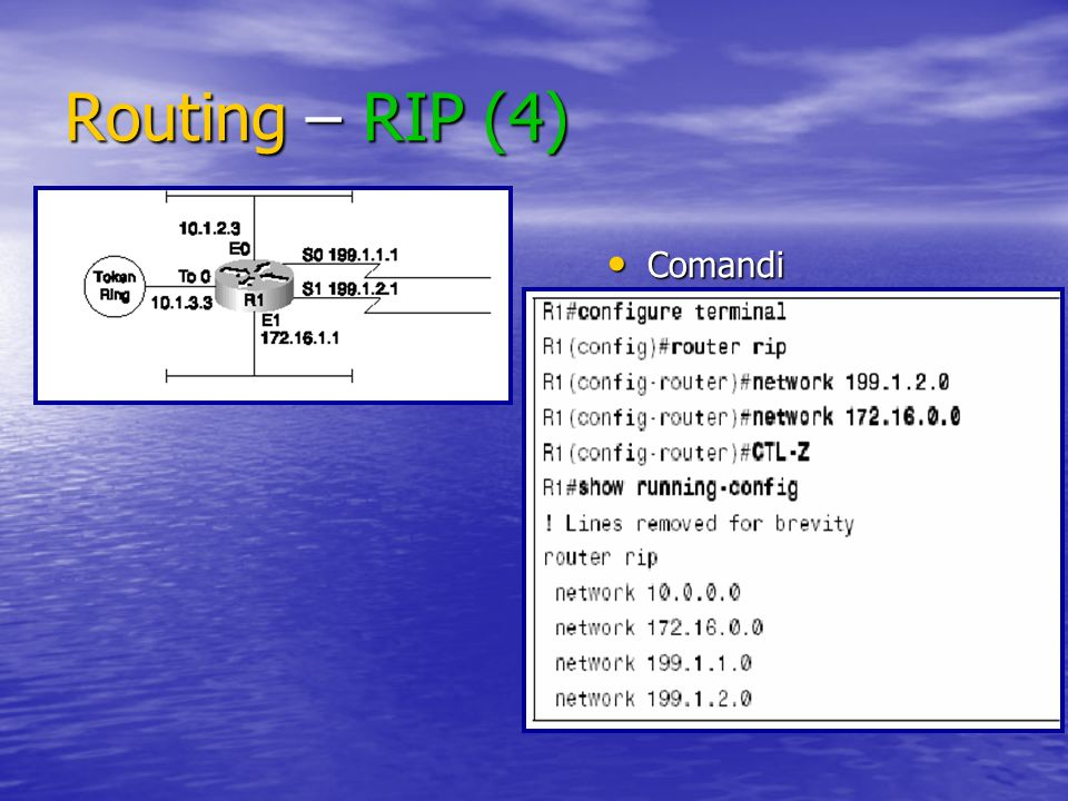 Routing – RIP (4) Comandi
